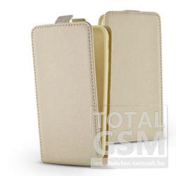 Samsung G965 Galaxy S9 Plus Arany Slim Lefelé Nyíló Flip Tok
