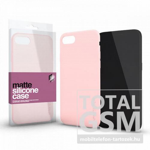 Samsung G970F Galaxy S10E Rózsaszín Matt Szilikon Tok