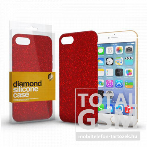Samsung G970F Galaxy S10E Piros Csillogós Szilikon Tok