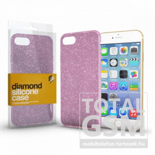 Samsung G970F Galaxy S10E Rózsaszín Csillogós Szilikon Tok