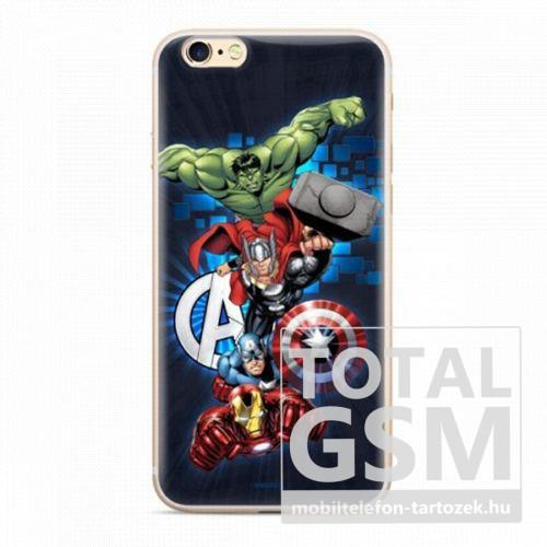 Marvel szilikon tok - Avengers 001 Samsung J405 Galaxy J4 Plus (2018) sötétkék (MPCAVEN098)