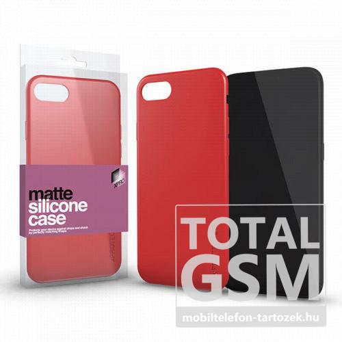 Huawei P30 Piros Matt Szilikon Tok