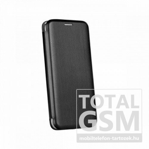 Huawei Honor 20 Lite Forcell Elegance oldalra nyíló mágneses notesz flip tok szilikon belsővel fekete