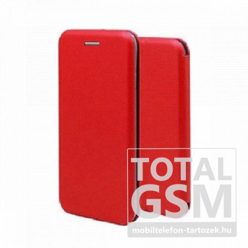 Samsung A105F Galaxy A10 (2019) / M105F Galaxy M10 (2019) Forcell Elegance oldalra nyíló mágneses notesz flip tok szilikon belsővel piros
