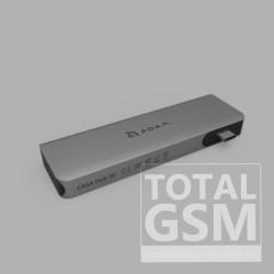 ADAM elements CASA HUB 5E 5 port USB-C 3.1 elosztó-kártyaolvasó PD 60W, szürke