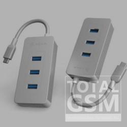 ADAM elements CASA HUB PDC601 6 port USB-C elosztó-kártyaolvasó 80W, ezüst