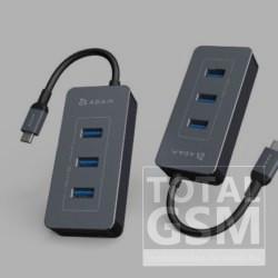 ADAM elements CASA HUB PDC601 6 port USB-C elosztó-kártyaolvasó 80W, szürke