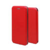 LG K40 Forcell Elegance oldalra nyíló mágneses notesz flip tok szilikon belsővel piros
