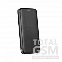LG K50 / Q60 Forcell Elegance oldalra nyíló mágneses notesz flip tok szilikon belsővel fekete