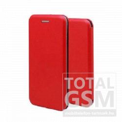 LG K50 / Q60 Forcell Elegance oldalra nyíló mágneses notesz flip tok szilikon belsővel piros