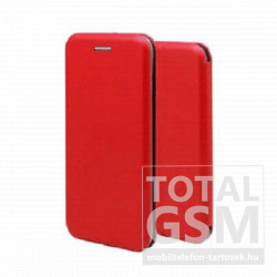 Samsung A202F Galaxy A20e (2019) Forcell Elegance oldalra nyíló mágneses notesz flip tok szilikon belsővel piros