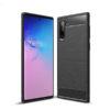 Samsung N970 Galaxy Note 10 Fekete Karbon Mintás Szilikon Tok