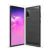 Samsung N975 Galaxy Note 10 Plus Fekete Karbon Mintás Szilikon Tok